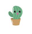 kawaii cute funny cactus plant vector image