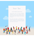 Letter Template Isometric vector image vector image