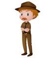man in park ranger costume vector image