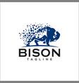 pixel bison logo templates vector image vector image