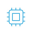 processor linear icon core thin line chip vector image