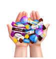 realistic candies heap composition vector image vector image