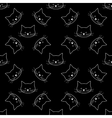 seamless of cat faces vector image vector image