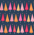 seamless pattern of bright chrismas trees vector image