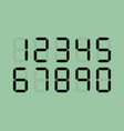 set digital led numbers vector image vector image