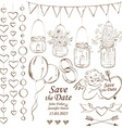 Set of wedding decoration elements vector image vector image