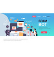 spam bot email spamming attack robot computer vector image vector image