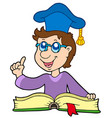 teacher with book vector image vector image