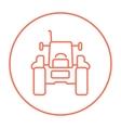 Tractor line icon vector image vector image