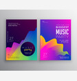 vibrant abstract music party event flyer poster vector image vector image