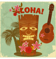 Vintage hawaiian postcard vector | Price: 1 Credit (USD $1)