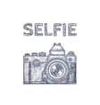 vintage old photo camera logo hand drawn vector image vector image