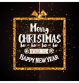 Xtmas and Happy new year golden banner vector image vector image