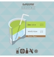 Daiquiri cocktail flat style isometric vector image