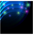 Modern background with neon blue wave eps10 vector image