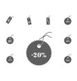 20 sale icon sale and discount vector image