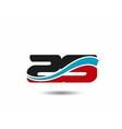 29 anniversary wave logo vector image vector image
