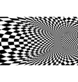 abstract wormhole tunnel black and white square vector image vector image