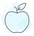 apple thin line icon diet and fruit healthy food vector image vector image