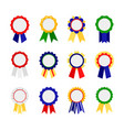 awards ribbons icons good grades ribbon colorful vector image