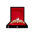 beautiful tiara in a gift box vector image vector image