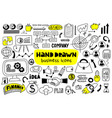 big set hand drawn business icons vector image