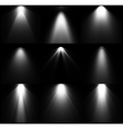 Black and white light sources set vector image