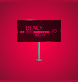 black friday on the billboard and progress loading vector image
