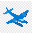 blue small plane isometric icon vector image vector image
