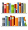 Books in a row on white background vector image vector image