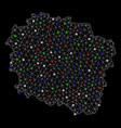 bright mesh network kuyavian-pomeranian vector image vector image