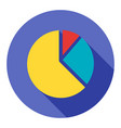 business pie chart flat icon modern style vector image vector image