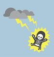 Businessman hit by lightning strike vector image vector image