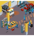Car Service Isometric Concept vector image vector image