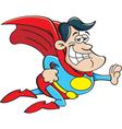 Cartoon flying super hero vector image vector image