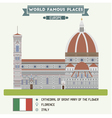 cathedral saint mary flower florence vector image
