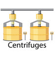 centrifuges for sugar industry vector image