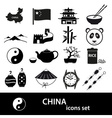 China theme black icons set eps10 vector image vector image