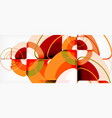 circles and triangles design abstract background vector image vector image