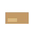 Closed brown envelope vector image vector image