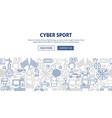 cyber sport banner design vector image