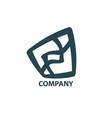 design geometric logo vector image vector image