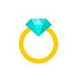 diamond ring - diamond ring symbol flat vector image vector image
