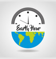 earth hour save energy clock world vector image vector image