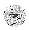 father s day doodle greeting card men s sports vector image vector image