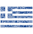 flag of greece from its traditional symbols vector image vector image