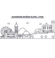 france lyon architecture line skyline vector image vector image