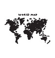 freehand drawing style of world map vector image vector image