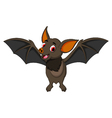 funny bat cartoon posing stand vector image vector image