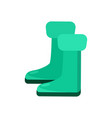 garden rubber boots isolated icon vector image vector image